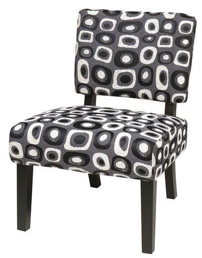 Jasmine Twilight Grey Armless Accent Chair For The Home Accent
