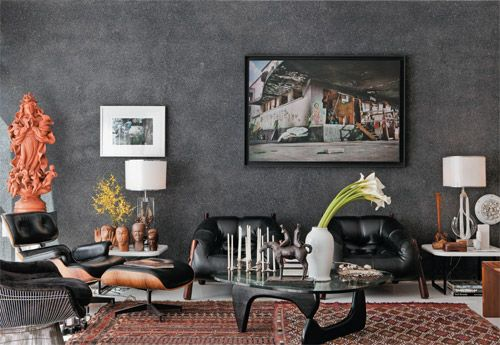 Parede Fulget Preto Wall Of Black Fulget Decoracao Ideias De