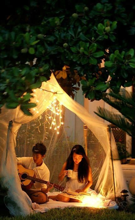 Outdoor Romantic Ideas Tinyme Blog Backyard Camping Outdoor Backyard Lighting