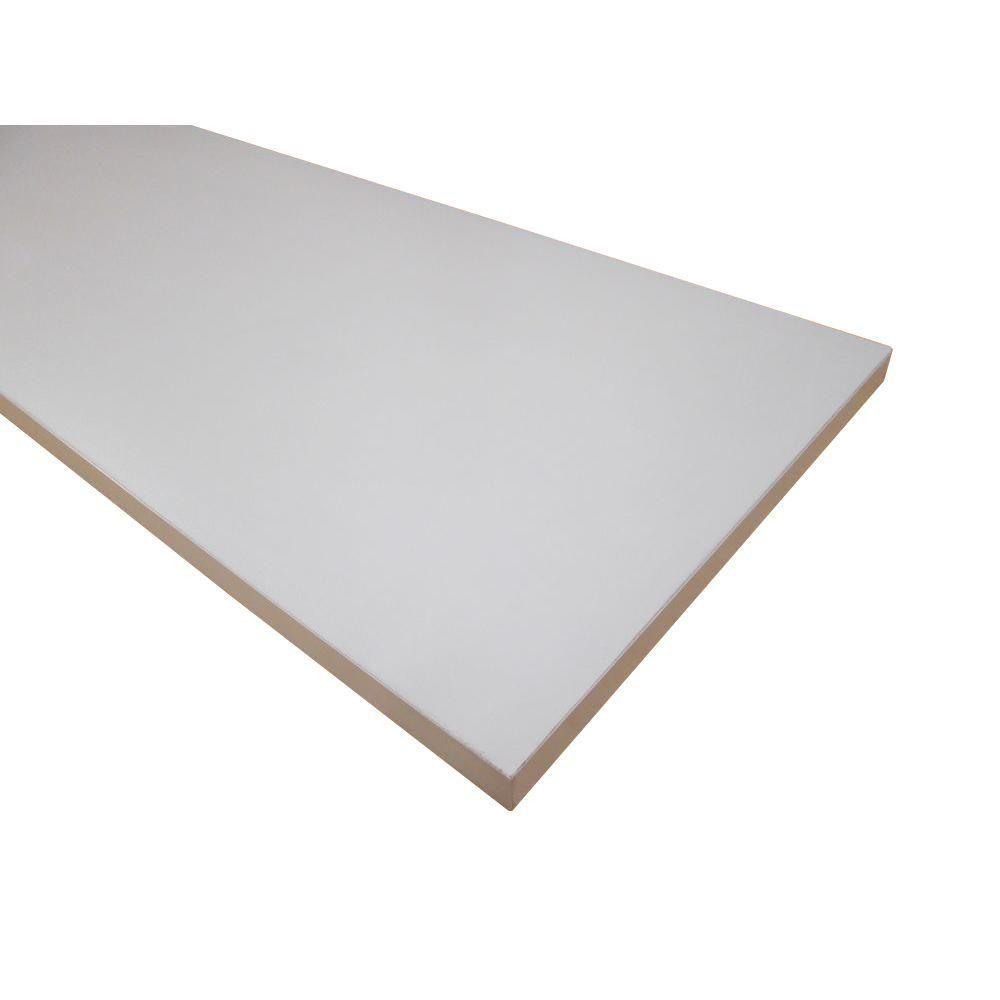 3 4 In X 16 In X 72 In White Thermally Fused Melamine Shelf 57199 The Home Depot Shelves Melamine Shelving Decorating Shelves
