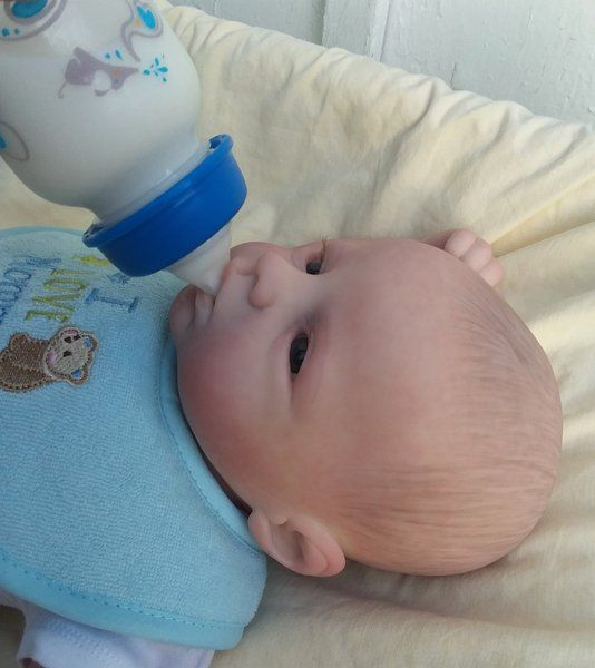 Open Mouth Baby Lucas By Barb #dollcare