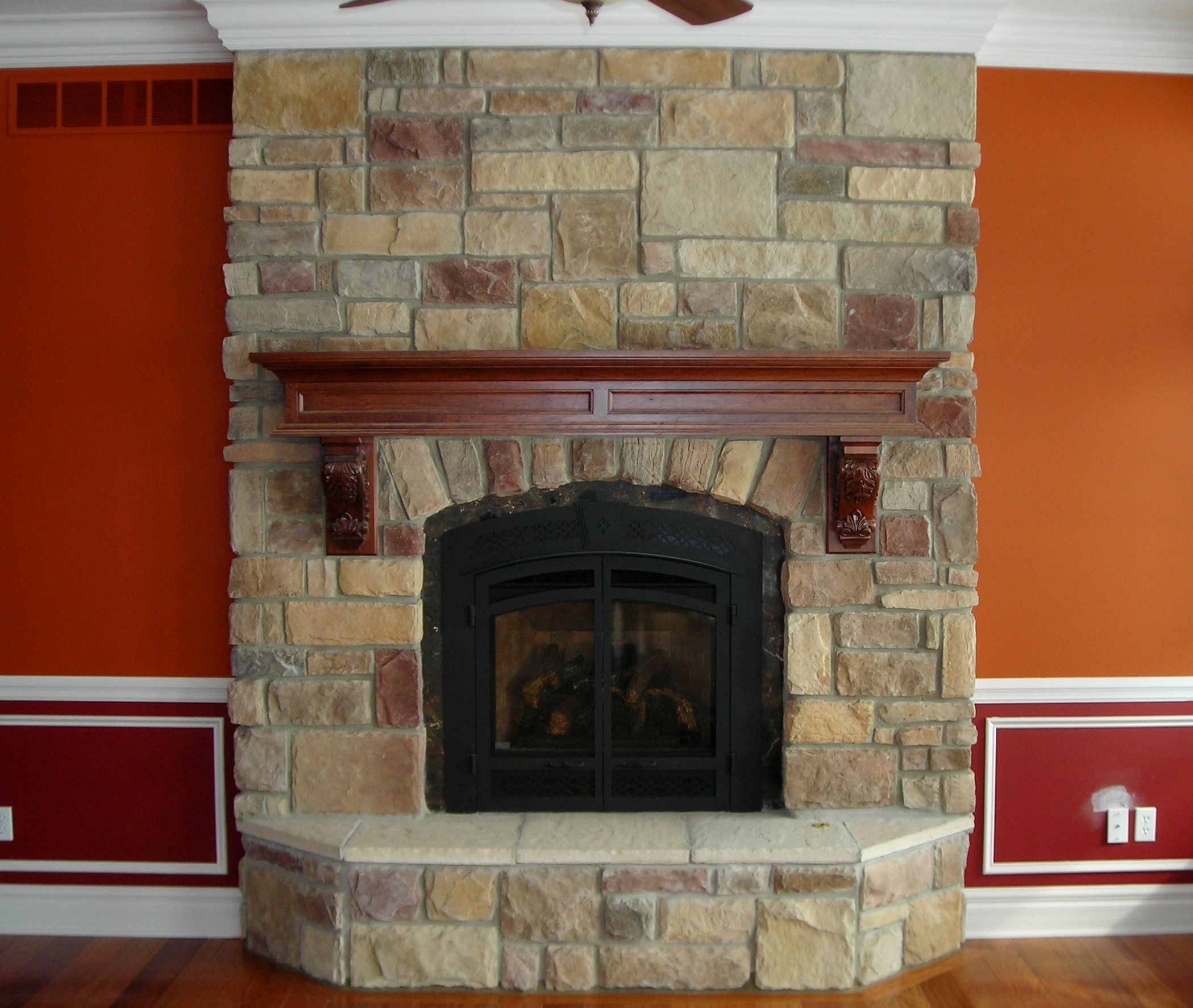 fireplace fox river ashlar jn stone for the home pinterest