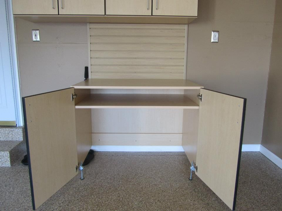 roll your lawn mower into this bottomless cabinet! - Roll Your Lawn Mower Into This Bottomless Cabinet! Storage Ideas