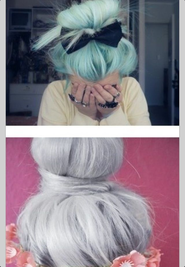 Such Nice Colours And Amazing Messy Buns Hair Hair Hair Styles