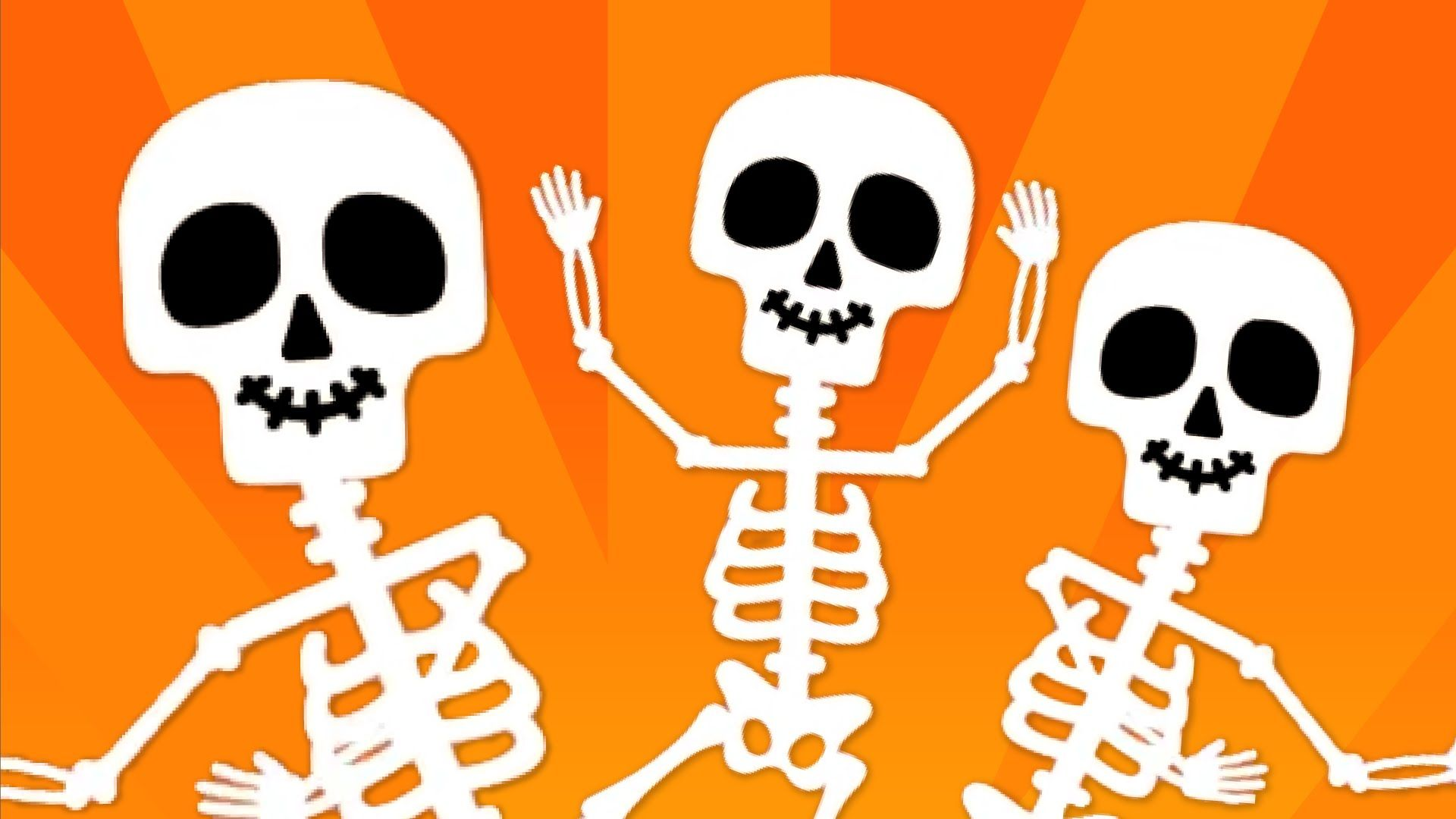 "We're doing ""The Skeleton Dance."" Wiggle wiggle wiggle"