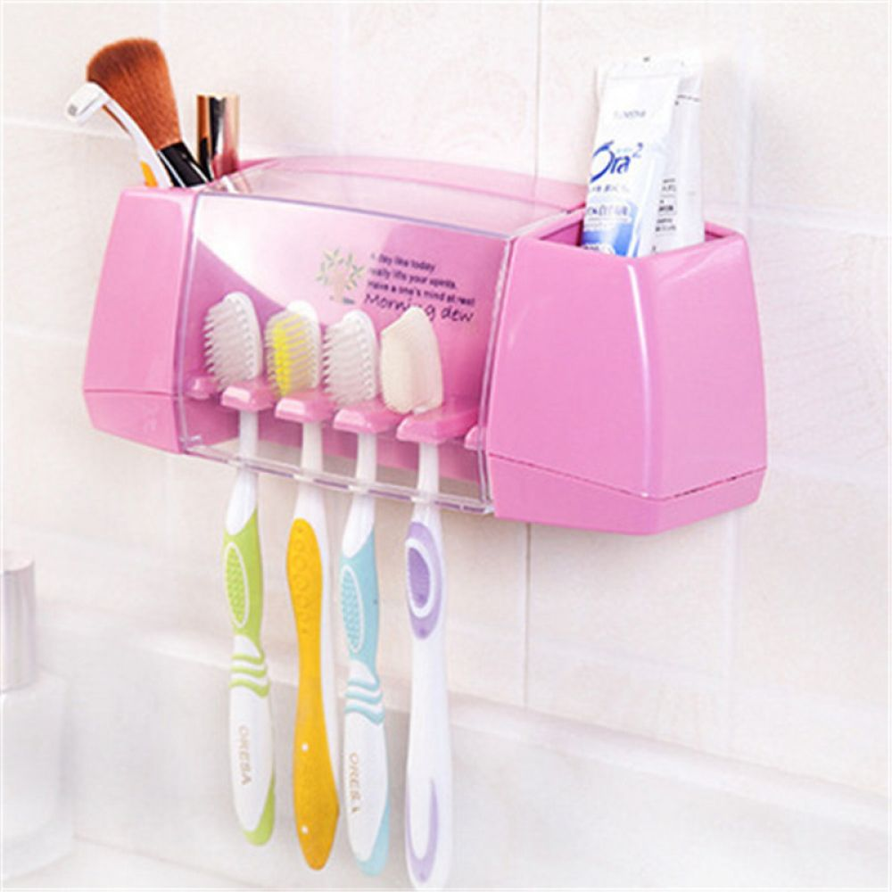Plastic Wall Mounted Toothbrush Holder Storagedelight Toothbrush Storage Brushing Teeth Bathroom Toothbrush Holder