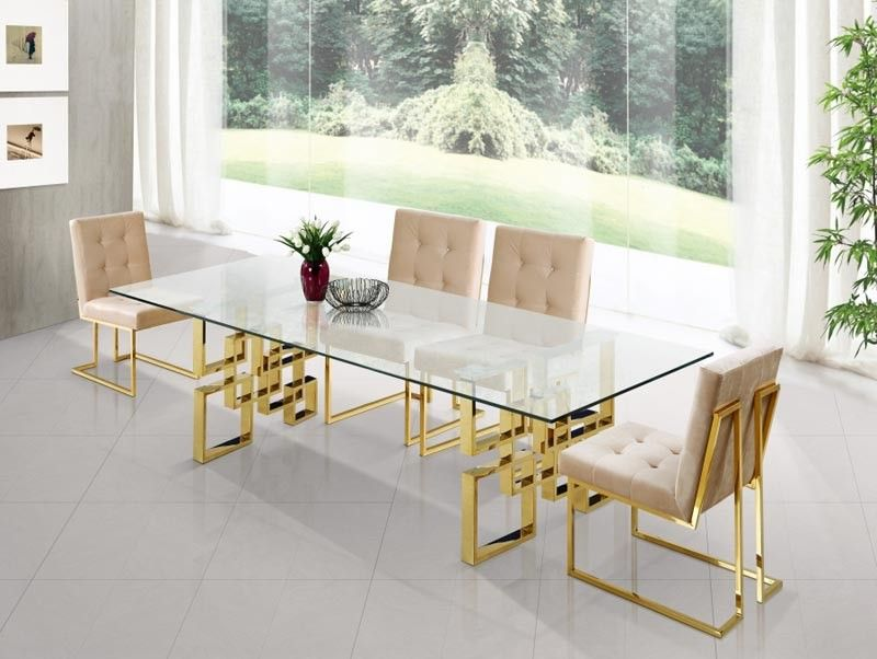 Contemporary Dining Room Chairs Alluring Meridian Furniture  Pierre 5 Piece Dining Room Set  7145Set Design Ideas