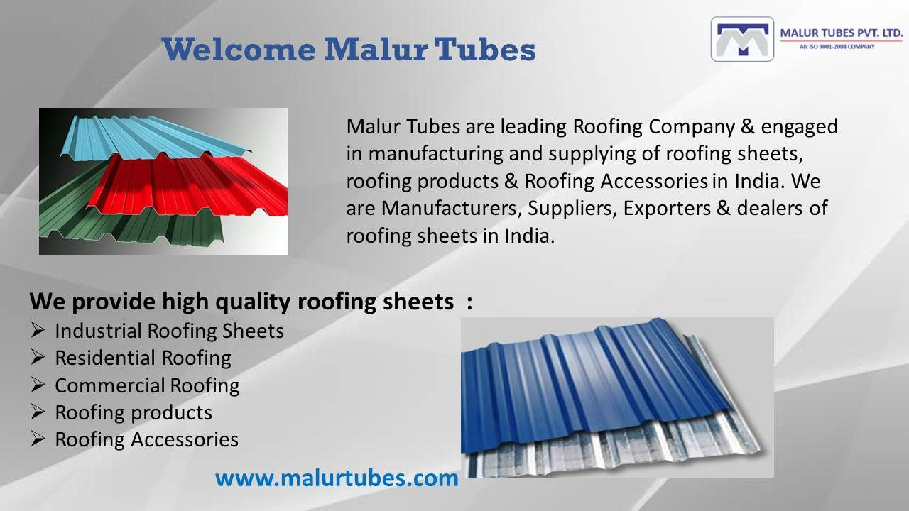 Malur Tubes Roofing Contractors In India Roof Design Modern Roof Design Roofing Sheets
