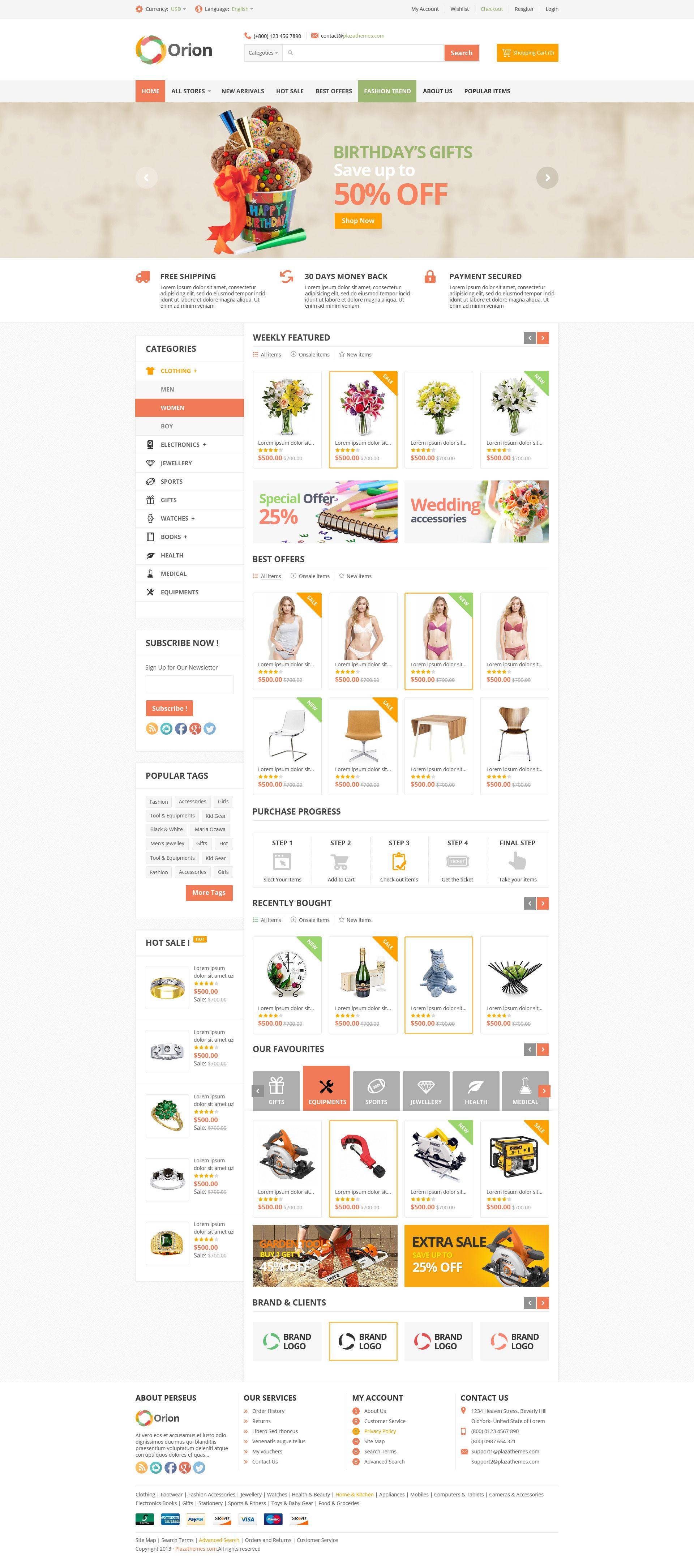 Orion Mega Shop Responsive Magento Theme Shop Mega Orion