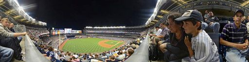 """Yankee Stadium,""""CLICK ON THIS PHOTOGRAPH TWICE AND THEN MOVE YOUR MOUSE AROUND AND OR CLICK ON THE ARROWS TO MOVE FOWARD. AND YOU CAN ALSO PAN IN AND OUT OF THE PHOTOGRAPH, TO SEE THE MAGIC""""."""
