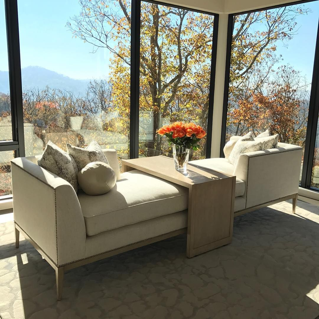 "78 Likes, 3 Comments - Marge Carson Furniture (@margecarsonofficial) on Instagram: ""Morning View #photoshoot #mountain #asheville #northcarolina #librachaise #designer #margecarson…"""
