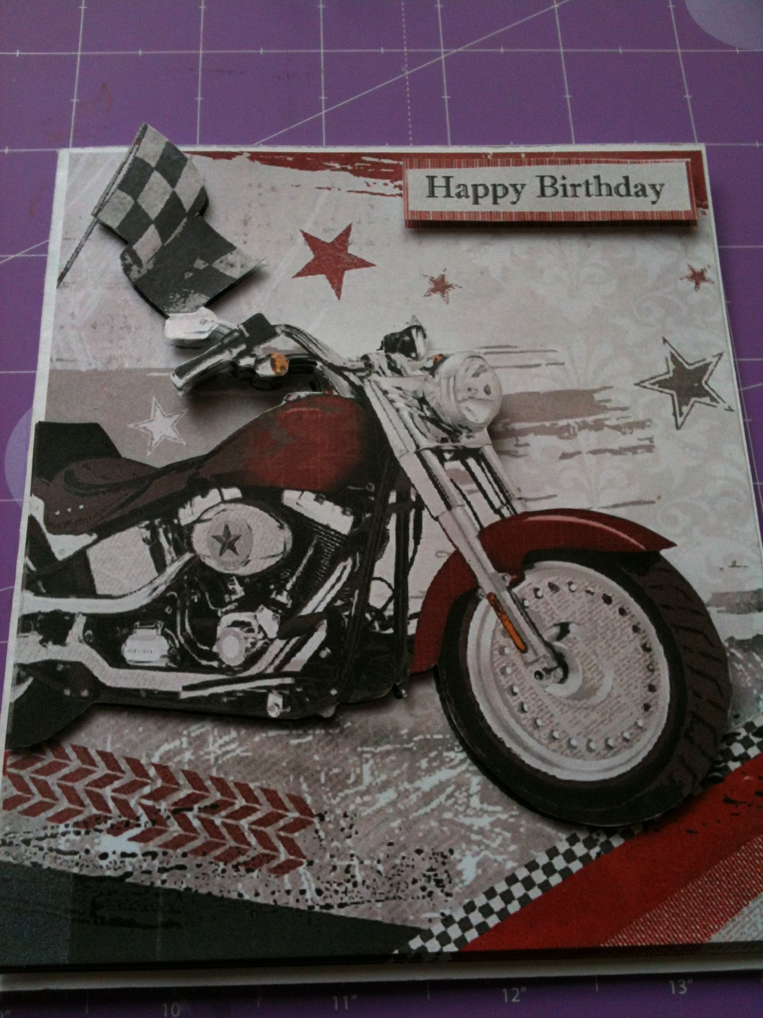 Motorbike Decoupage Crafters Companion Card Card Ideas Pinterest
