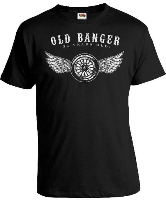 55th Birthday Gift Ideas Present Men T Shirt Custom For Him Old Banger 55 Years Mens Tee DAT 383