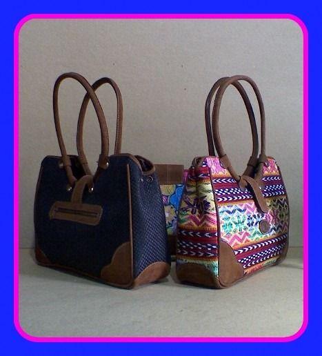 Para estrenar 60b0b 94f57 Bolsas artesanales en tela TIPICAS y Huipil y cuero de ...
