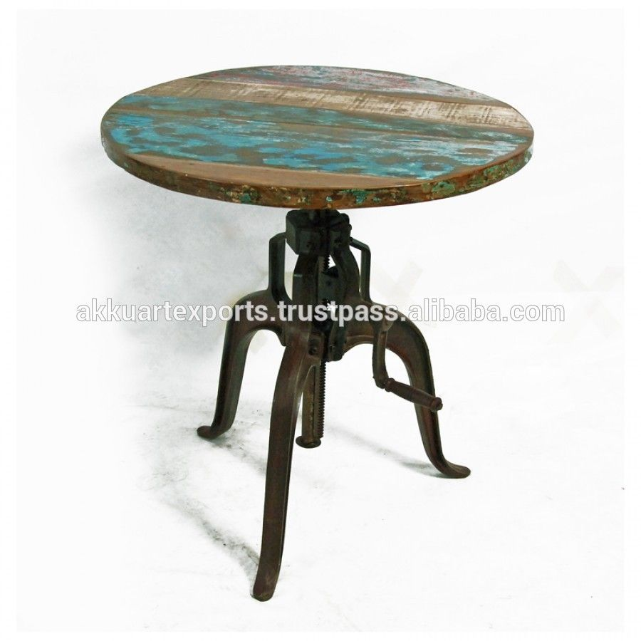 Unique Industrial Crank Dining Table Vintage Crank Table With