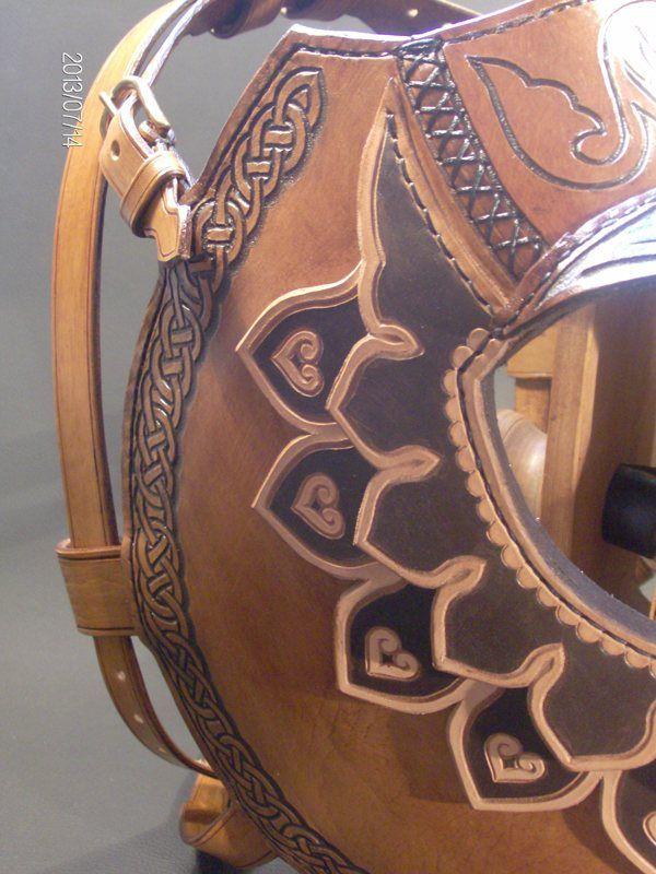 The horse armor with horn inserts by Zoltán Koszta via Behance