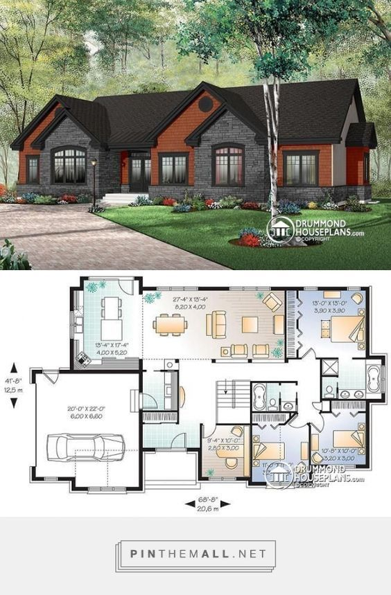 Discover the plan 3224 Dambroise which will please you for its 3 4 bedrooms and for its Ranch styles