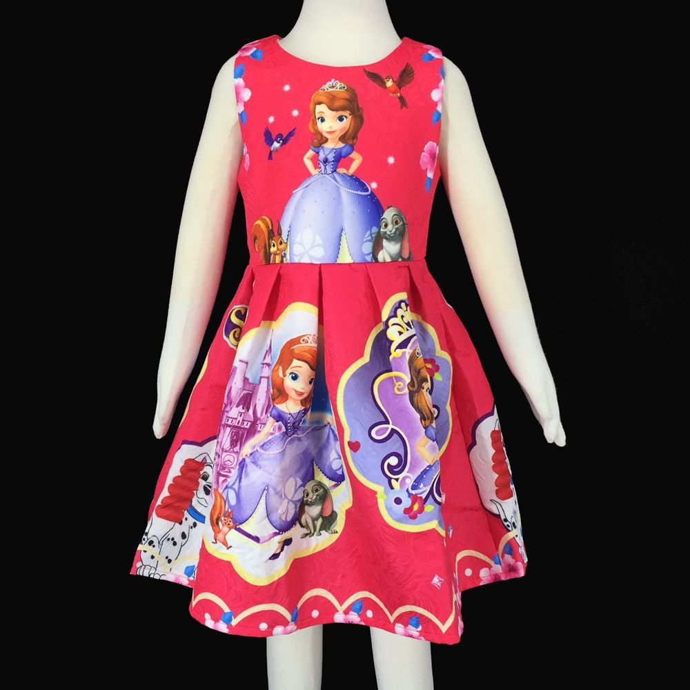 new summer kids princess sofia dress girls elegant party