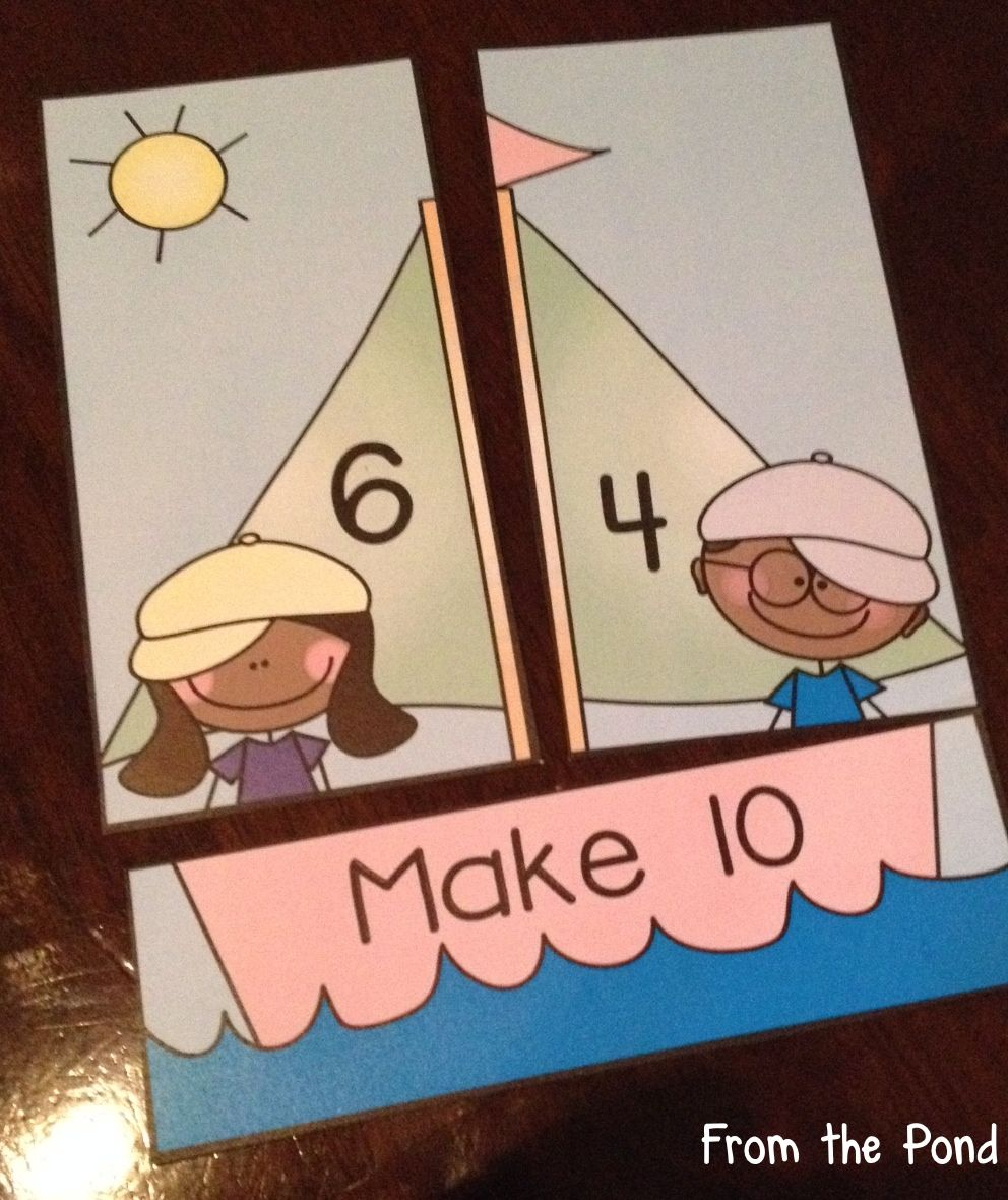 Addition sail along printable math card game center