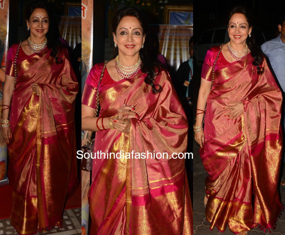 336866791e0 Hema Malini in a Kanjeevaram saree!!