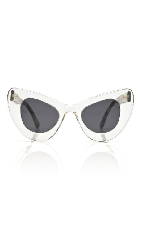 Shop Two Tone Cat Eye Sunglasses by Illesteva for Preorder on Moda - Equipment Bill Of Sale