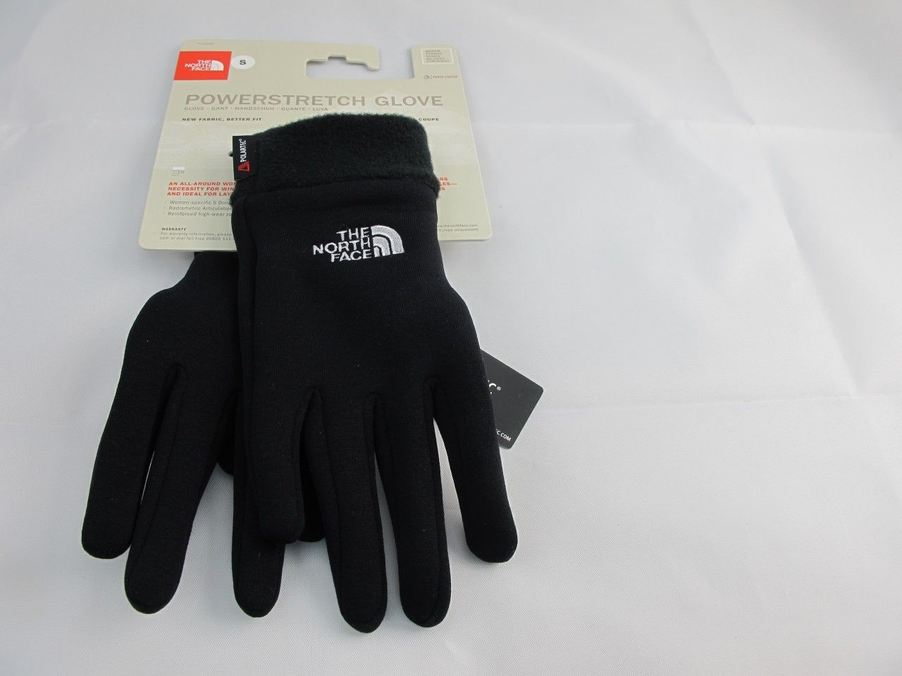 THE NORTH FACE POWERSTRETCH POLARTEC GLOVES GANTS HANDSCHUHE GUANTES SIZE L NEW.