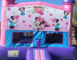 Ongekend Minnie Mouse Bounce House | Rockstar birthday | Things that bounce CG-14