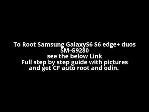 How to root Samsung Galaxy S6 edge Plus SM-G9280