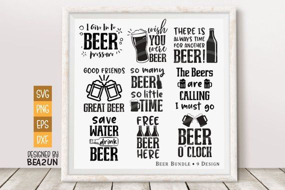 Funny Beer Drinking Quotes: Beer Bundle SVG, Beer Svg Funny Beer Saying Beer Lover