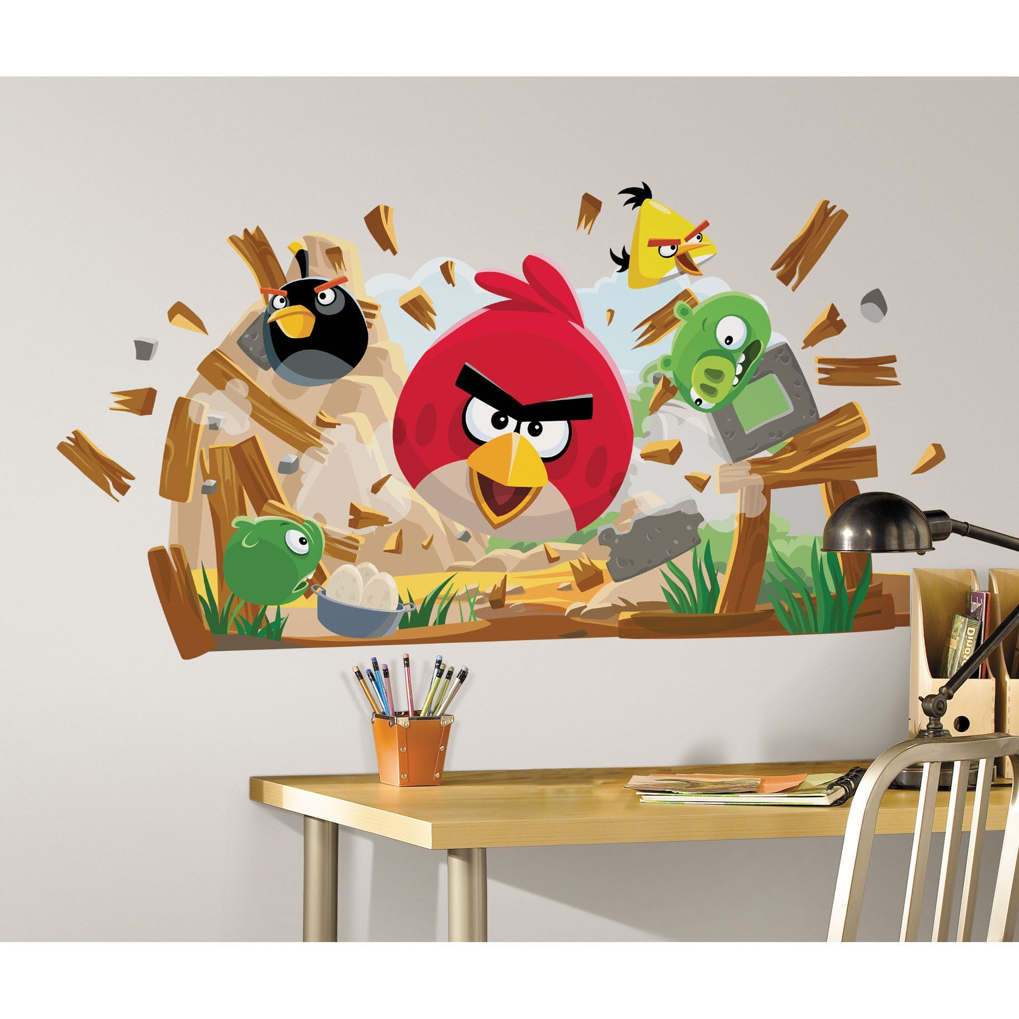 Angry Birds Peel and Stick Giant Stickers Muraux Amazon