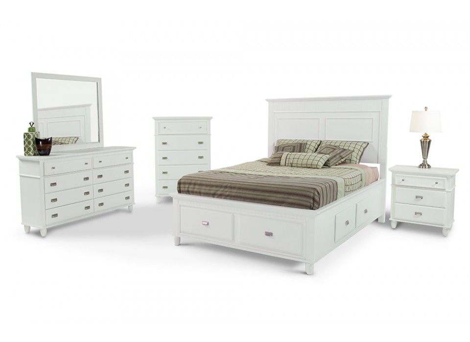 Spencer Storage 8 Piece Queen Bedroom Set Bedroom Sets Bedroom - Bobs Furniture Bedroom Sets