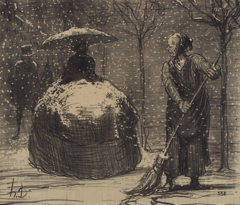 Honoré Daumier, The Crinoline in Winter, 1858