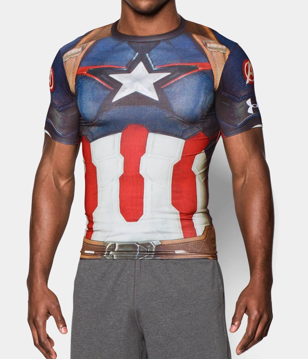 Men S Under Armour Alter Ego Captain America Compression Shirt Under Armour Us Cosplay Shirt Compression Shirt Under Armour Men