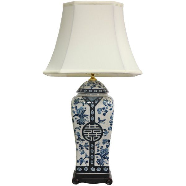 26 Inch Blue And White Vase Lamp (China)   Overstock™ Shopping