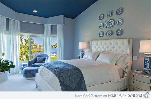 Contemporary Bedroom Colors Delectable 18 Ideas For Blue Contemporary Bedrooms  Bedrooms Contemporary Decorating Inspiration