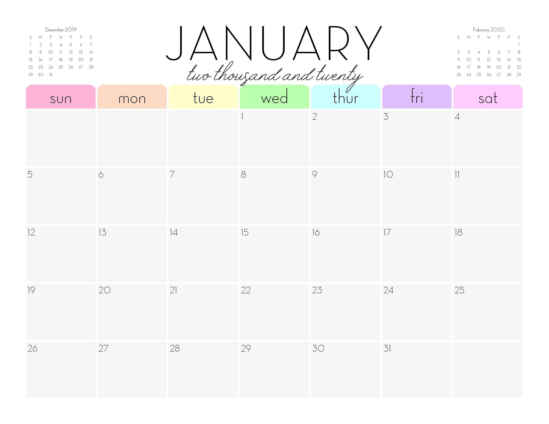Printable 8 5 X11 Monthly Calendar Wall Calendar