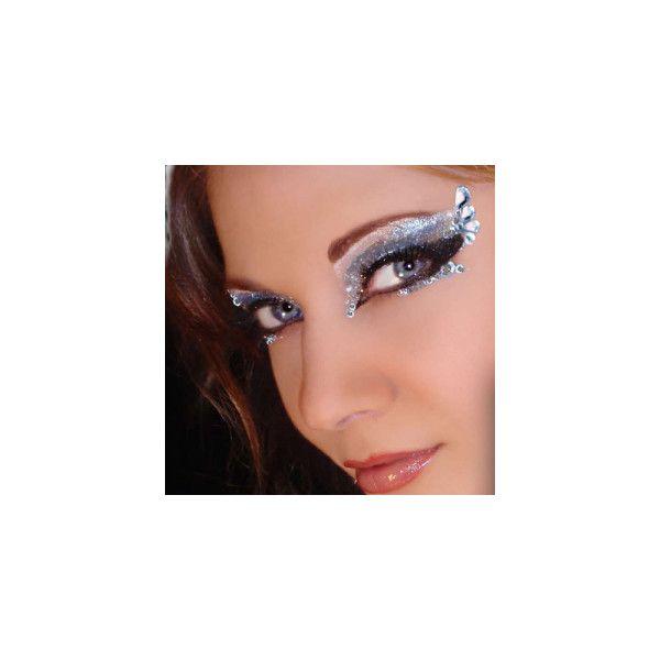 Sexy Eye Makeup Designs and Rhinestone Body Art ($24) found on Polyvore