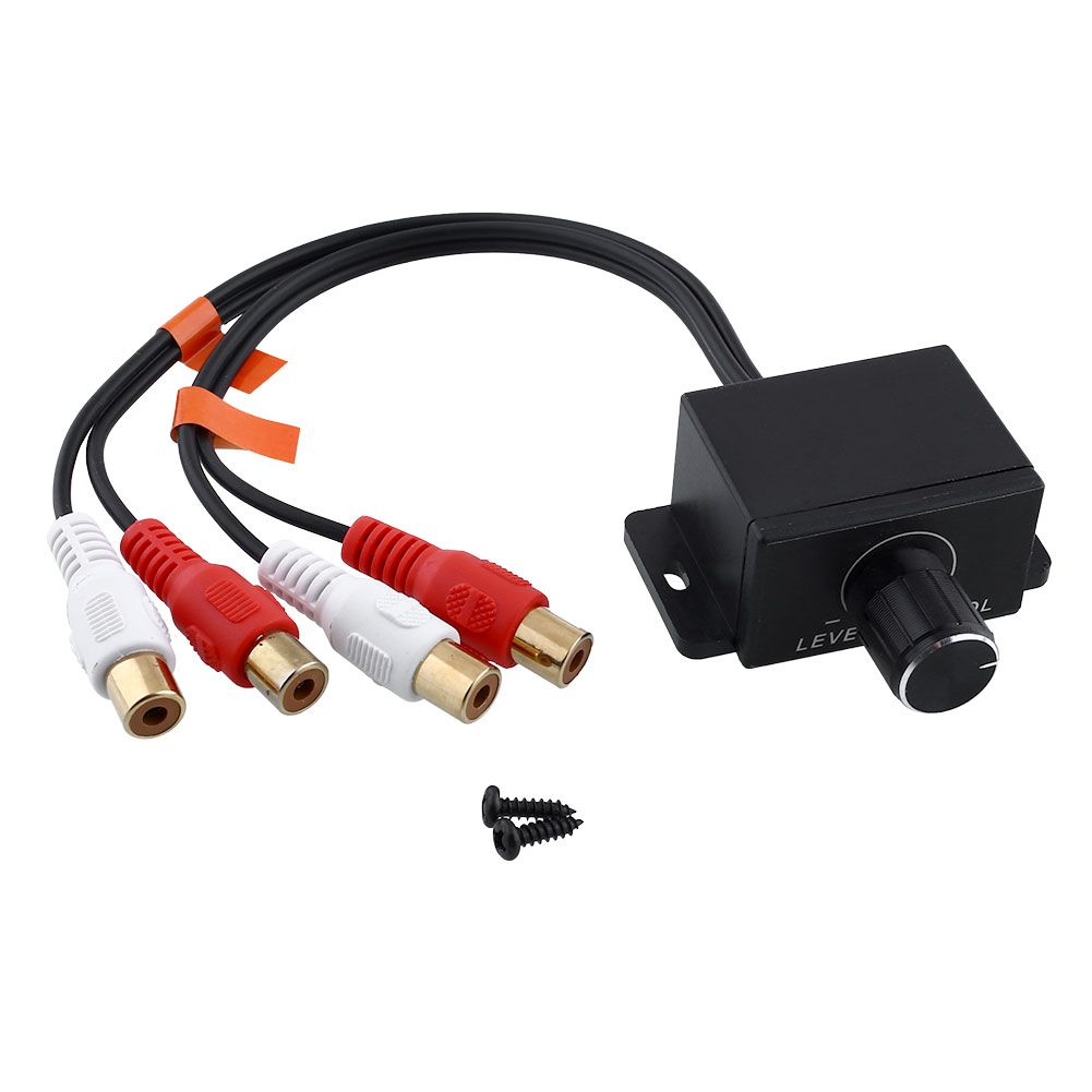 automobile home audio amplifier bass rca gain remote external