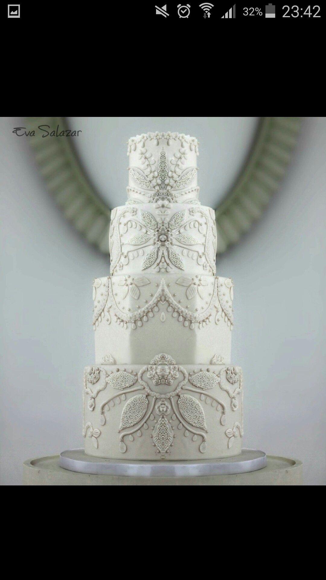 Weiß perlen Ornamente