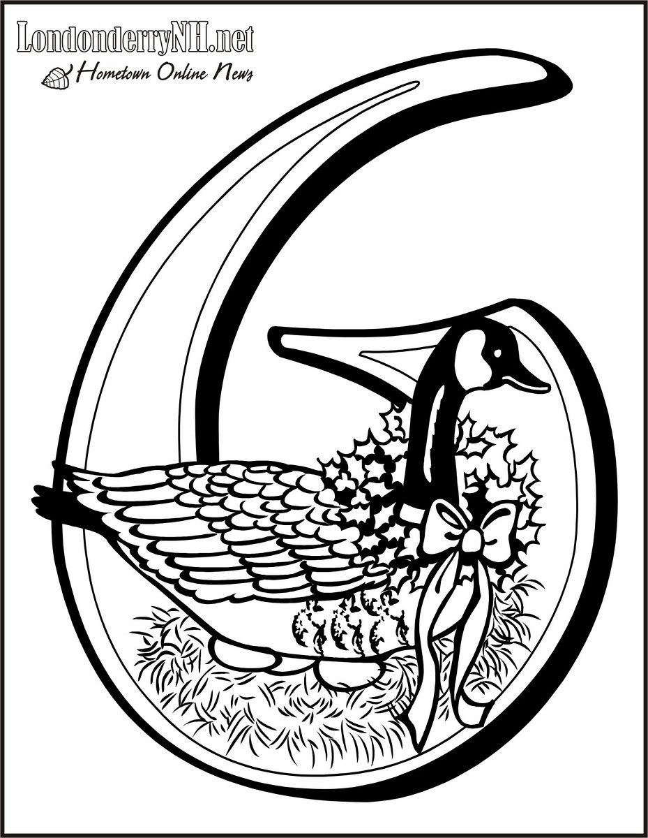 Six Geese A-laying Coloring Page | 12 Days of Christmas | Pinterest ...
