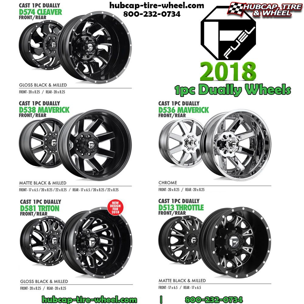 New 2018 1pc Fuel Dually Wheels Dually Wheels Wheels And Tires