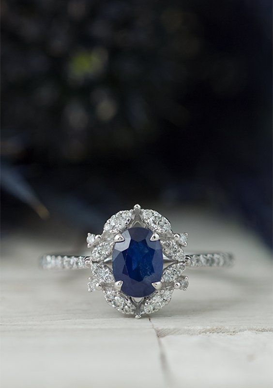 Believed To Symbolize Wisdom This New Blue Sapphire Ring Is A Smart Way To Add A Splash Of Color To Your Wa Sapphire Jewelry Blue Sapphire Rings Fashion Rings