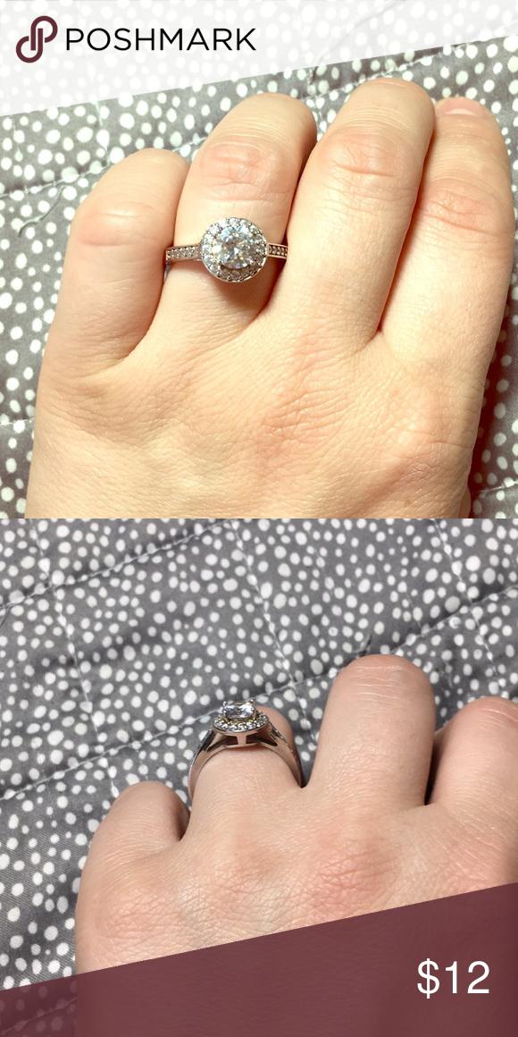 925 Cn Gm : Diamond, Silver, Large, Times, Stamp, Inside, Paved, Diamonds, Jewelry,, Ring,