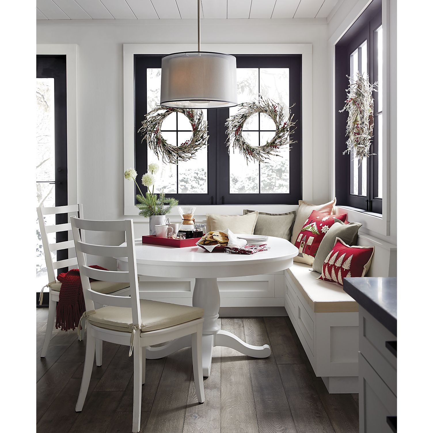 Avalon 45 White Extension Dining Table + Reviews | Crate and Barrel
