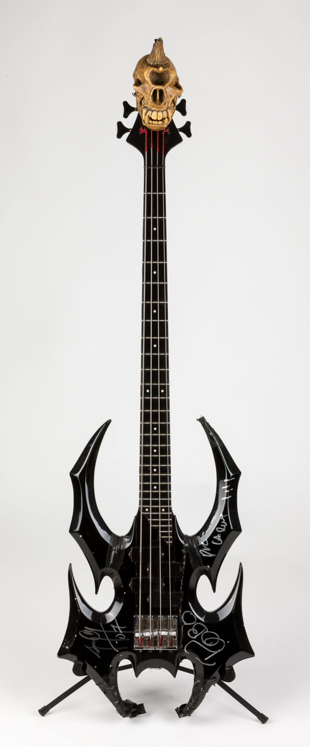 the devastator bass custom made by jerry only of the misfits himself musical instruments. Black Bedroom Furniture Sets. Home Design Ideas