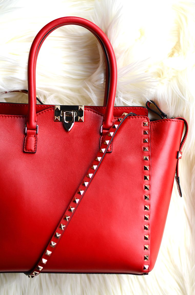 Valentino Red Studded Bag