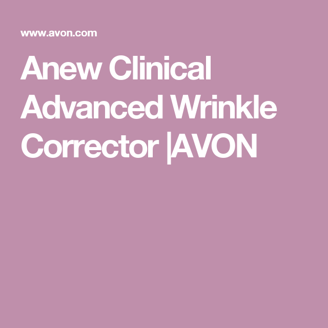 Anew Clinical Advanced Wrinkle Corrector |AVON