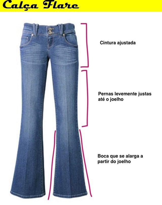 b0744ac14 Calça flare Calca Jeans Flaire, Modelos De Calças Femininas, Calça Flare  Cintura Alta,