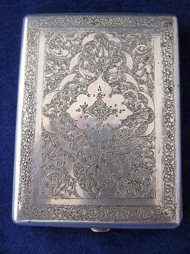 old silver cigarette case - Google'da Ara