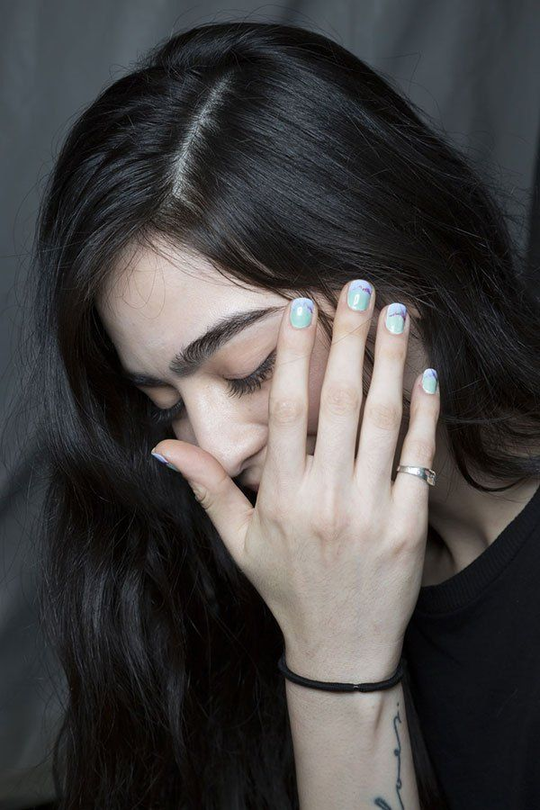 Purple and Blue Pastel Nails